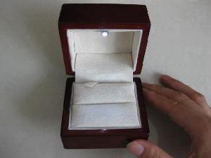 Как сделать коробочку для колец?
