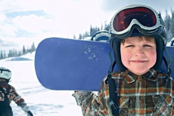 Сноуборд — превосходный подарок для любого ребенка