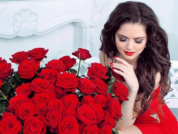 Подарить девушке розы 1