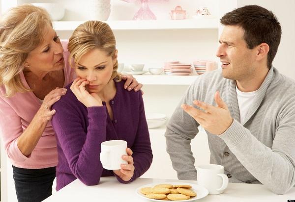 Реакция на критику родственников мужа